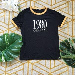 Zara 1980 ringer tee